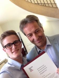 Selfie Sven Ehrung